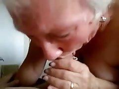 Blowjob, Granny, Handjob, Mature, Old and Young
