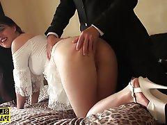 BDSM, British, Facial, Spanking