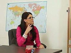 Brunette, Glasses, MILF, Office